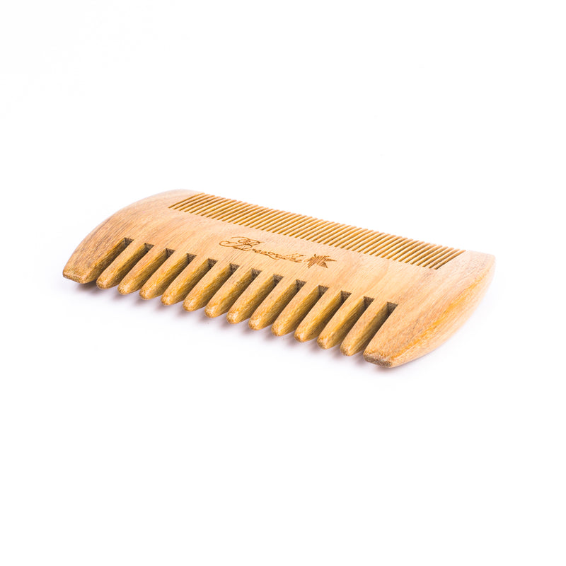 Breezelike No Static Sandalwood Double Side Hair & Beard Wide Tooth & Fine Tooth Comb Tooth Comb