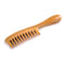 Breezelike No Static Super Big Size Round Handle Sandalwood Wide Tooth Comb