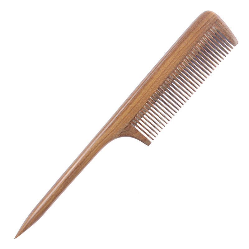 Breezelike No Static Green Sandalwood Rat Tail Comb