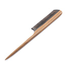 Breezelike No Static Black Buffalo Horn Comb Rat Tail Comb with Sandalwood Handle