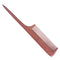 Breezelike No Static Red Sandalwood Comb Fine Tooth Teasing Tail Comb with Long and Thin Handle