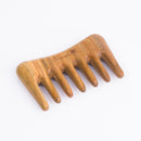 Breezelike No Static Sandalwood Mini Wide Tooth Hair Pick & Hair Comb for Detangling