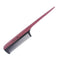 Breezelike No Static Black Buffalo Horn Comb Fine Tooth Teasing Tail Comb with Purpleheart Handle