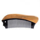 Breezelike No Static Fish Shaped Black Buffalo Horn with Sandalwood Pocket Comb