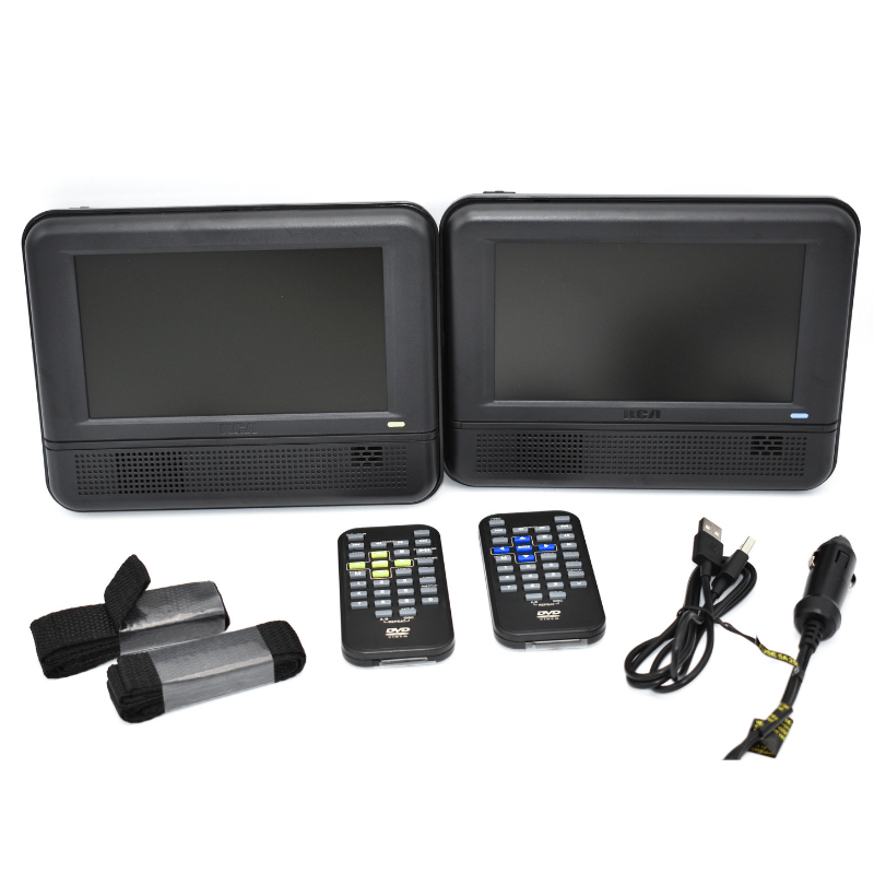 "RCA  7"" Twin Mobile DVD Players - Set of Two (DRC6272E22)"