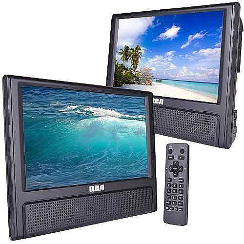 "RCA 9"" Dual Screen Mobile DVD System (DRC79982) - (Set of 2)"