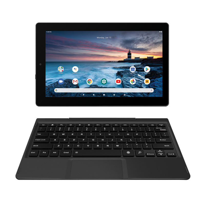"RCA Delta Pro 2 11.6"" Android 2-in-1 HD Tablet with Detachable Keyboard, 2GB RAM, 128GB Storage, Sleeve and Earbuds (RCT6716Q25H42)"