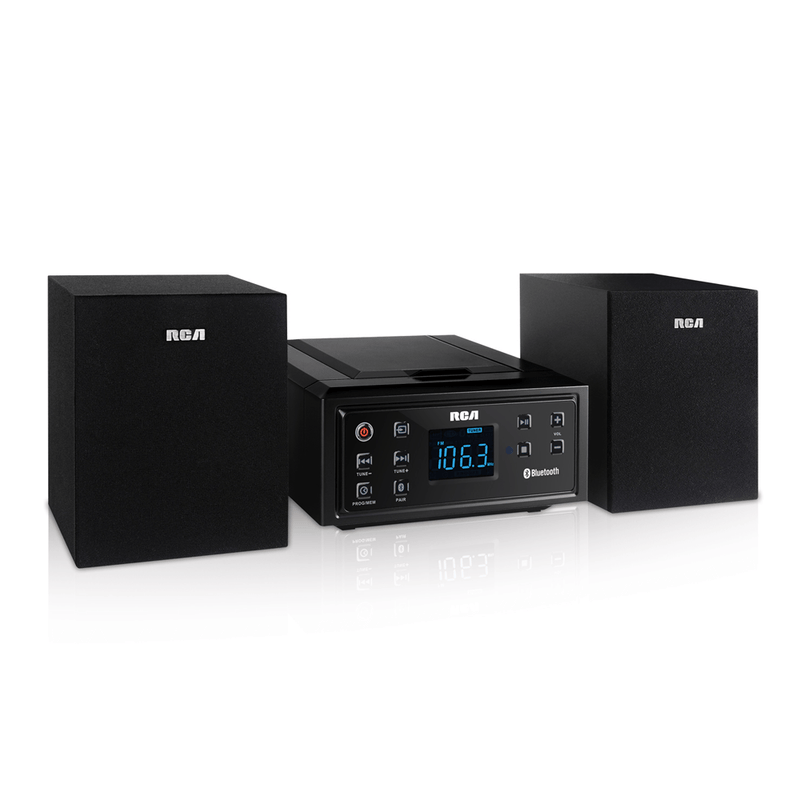 RCA CD Micro Home Stereo System with Bluetooth (RS2929B)