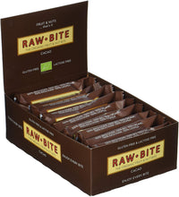 Laden Sie das Bild in den Galerie-Viewer, Raw Bite Bio Rohkost Riegel Cacao, 1 x 50 g