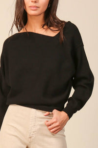 off the shoulder sweater black