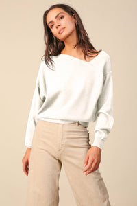 off the shoulder sweater white