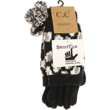 Load image into Gallery viewer, Leopard Print Cuffed Gloves with Pom