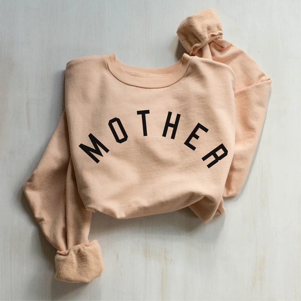 mother sweatshirt peach