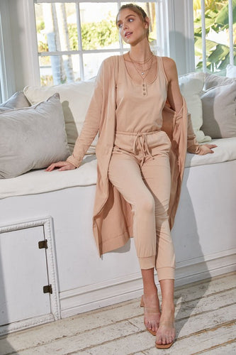 Jumpsuit Cardigan Set
