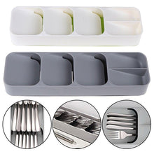 Load image into Gallery viewer, Tray Insert Cutlery Spoon Utensil Divider Organizer Kitchen Drawer Compact