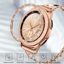 Load image into Gallery viewer, Rose Gold Stainless Steel Bezel Ring + Diamond for Samsung Galaxy Watch 42mm Women Anti Scratch Protection Cover Adhesive Case