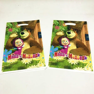 Masha And Bear Theme Kids Birthday Party Favors