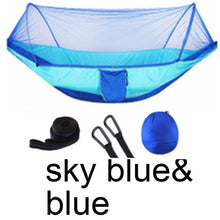 Load image into Gallery viewer, Outdoor Mosquito Net Hammock Parachute Tent Portable Garden Camping Hanging Sleeping Bed High Strength Sleeping Swing 250x120cm