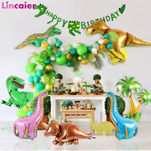 Load image into Gallery viewer, Dinosaur Themed Foil Balloons For Kiddie Party