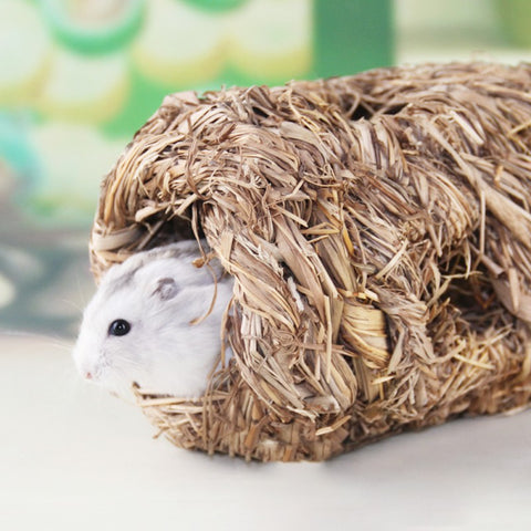 Small Pet Cage Hand-weaved Straw House