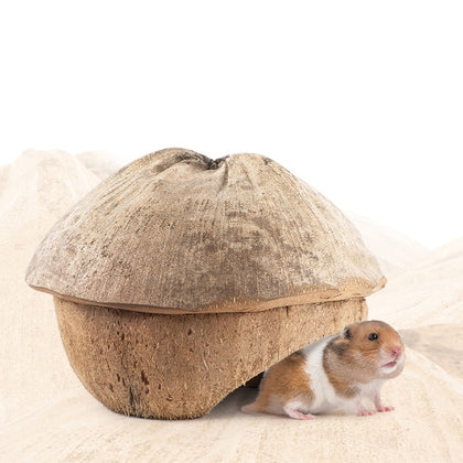 Natural Coconut Shell Small Pet Cave