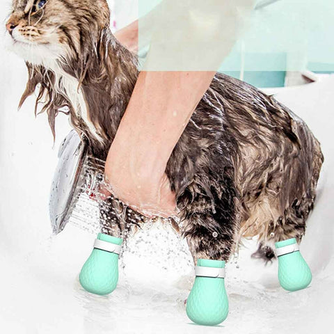 Bath Washing Protector for Anti-Scratch Cat Boots