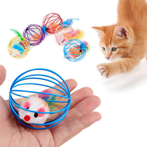 Interactive Small Bell Mouse Cage Cat Toy