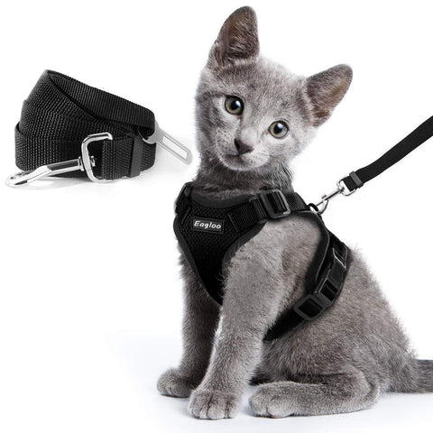 Escape Proof Cat Vest Harness and Car Seat Belt