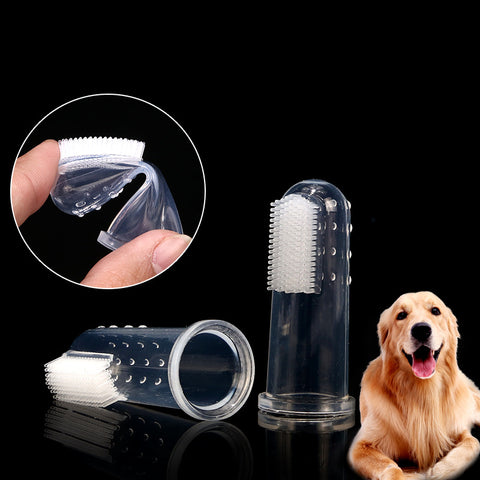 1pc Pet Dog Rubber Finger Toothbrush