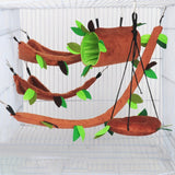 Small Pet Stump Nest Forest Leaf Tunnel Hammock