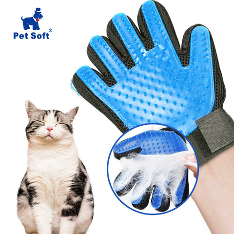 Soft Silicone Cat Grooming Glove Brush