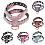 Adjustable Dog Collar Bling Rhinestone Pet Necklace