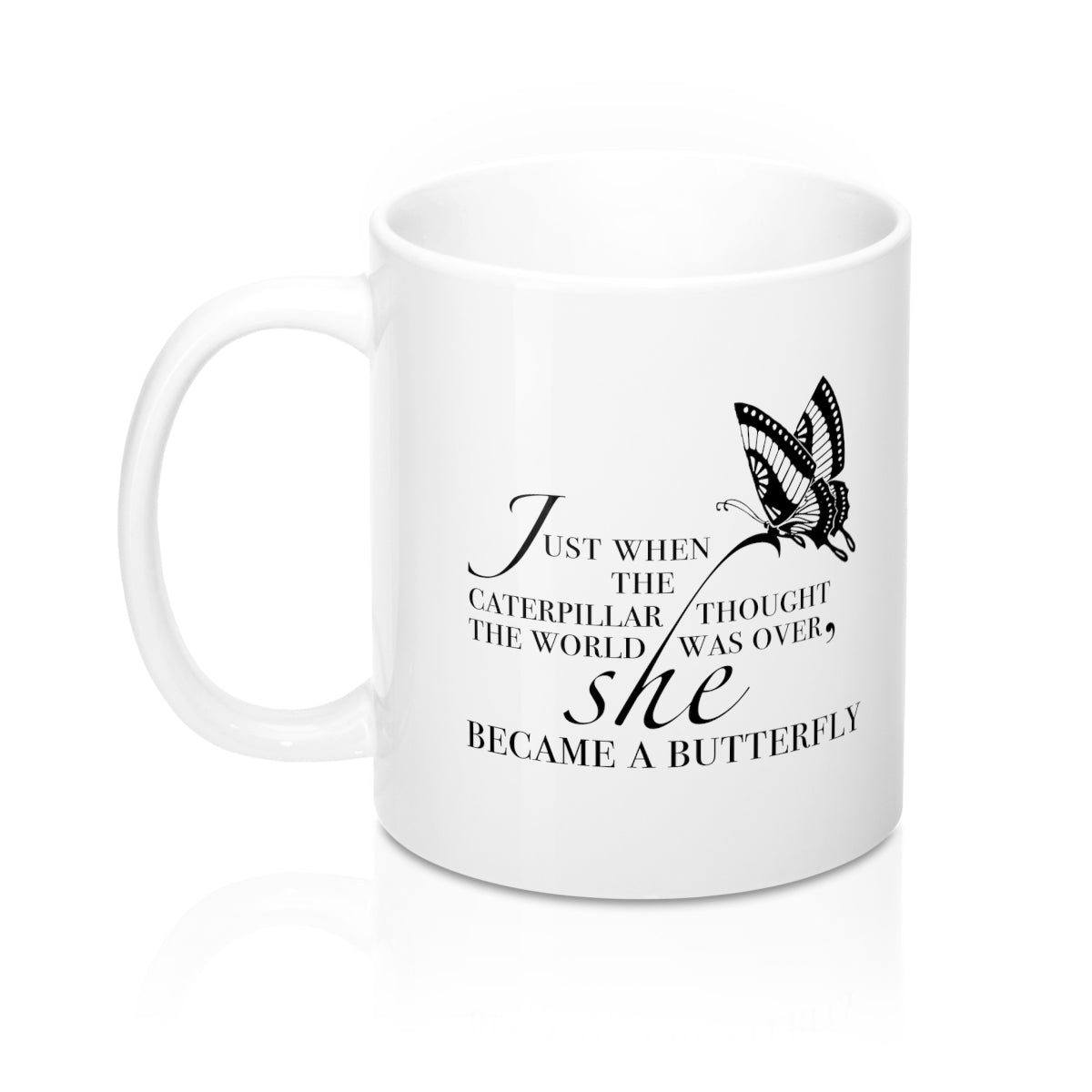 Just When the Caterpillar Thought the World was Over Mug (11oz)