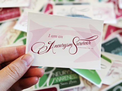 """I am an Aneurysm Survivor"" Sticker Pack (Bulk)"
