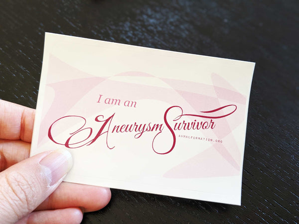 """I am an Aneurysm Survivor"" Sticker Pack (2)"