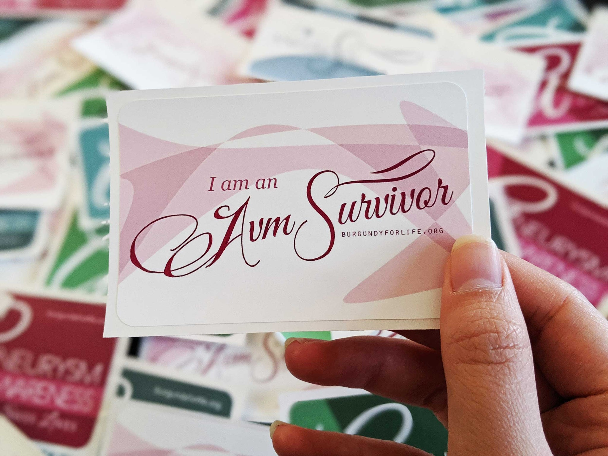 """I am an AVM Survivor"" Sticker Pack (2)"