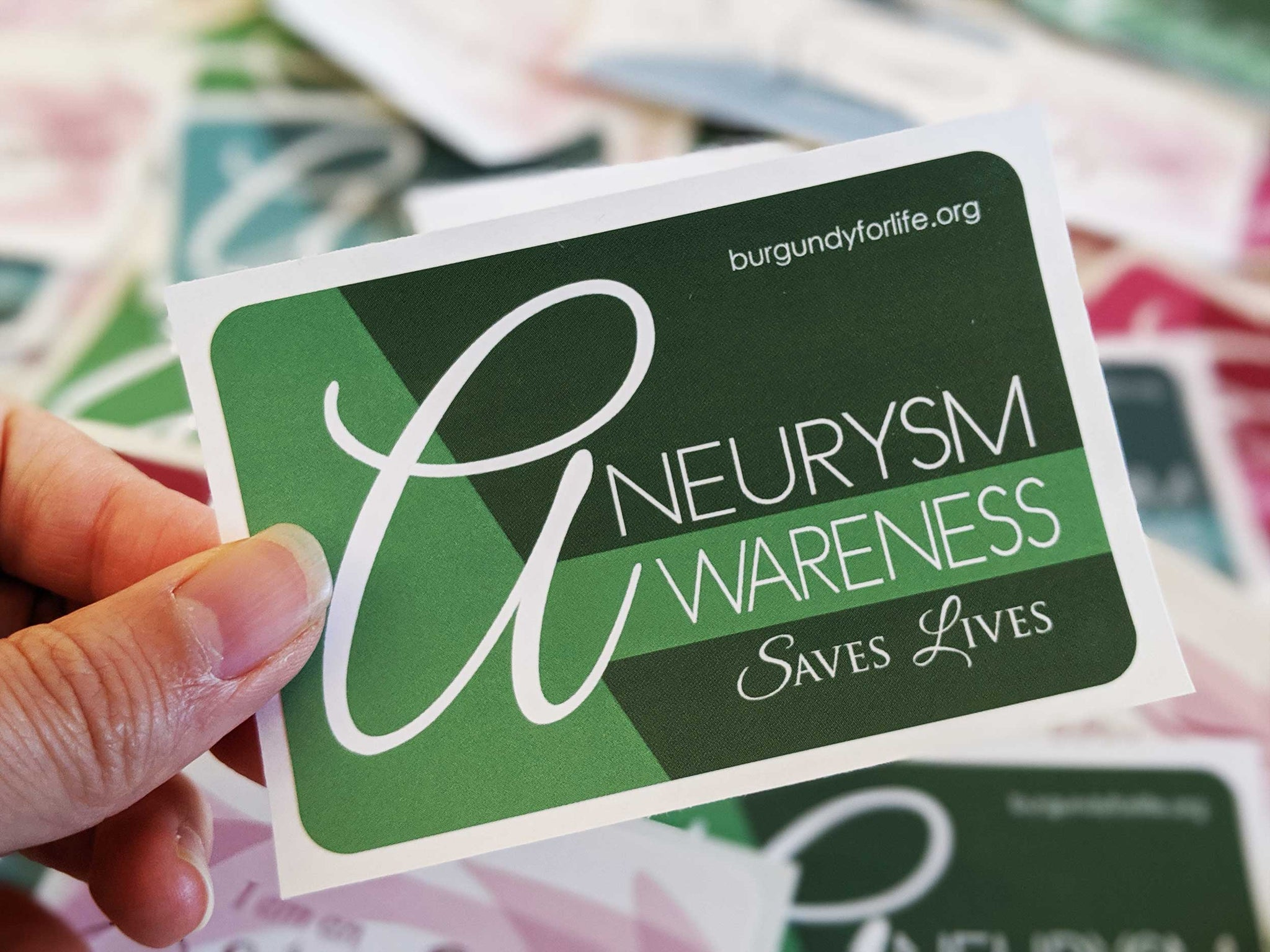 """Aneurysm Awareness Saves Lives"" Sticker Pack (3)"