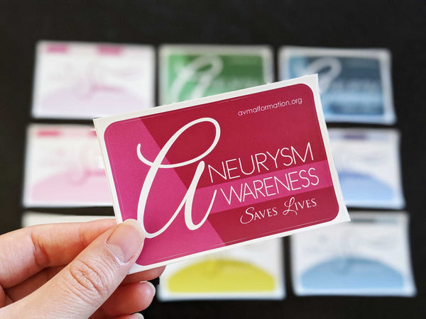 *LIMITED* Aneurysm Awareness Sticker Pack (10)
