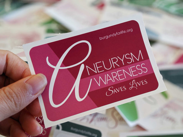 Aneurysm Awareness Sticker Pack (6)