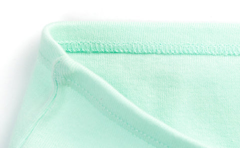 closeup view of mint green Gracie girls cotton briefs