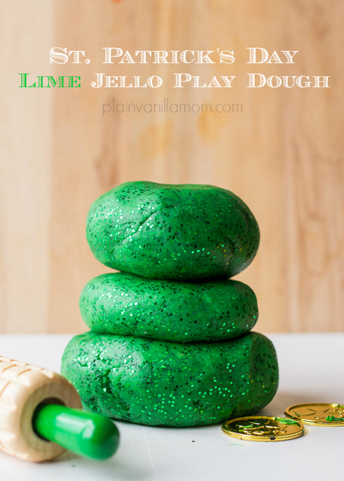 Sparkly Green Play Dough st. patrick's day crafts