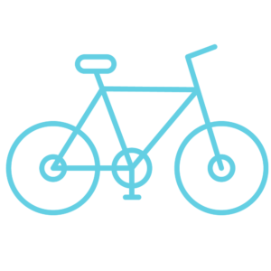 line drawing of bicycle