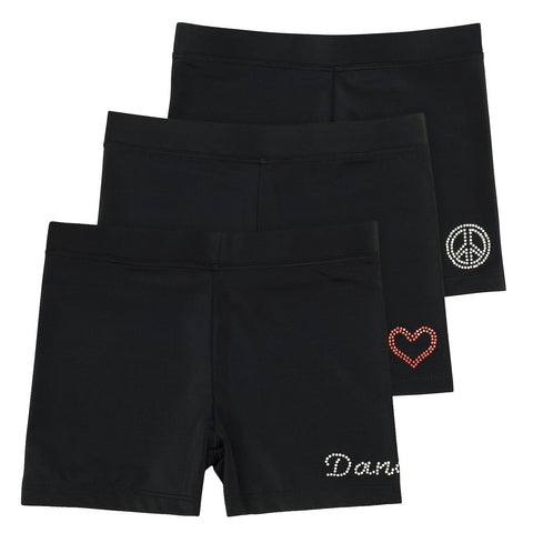 Ella Girls Dance Shorts (3-Pack)