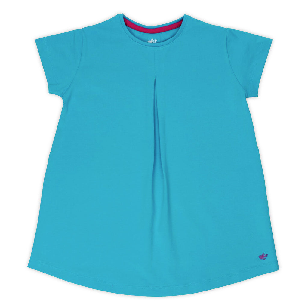 Hannah Girls Tunic Top - Turquoise