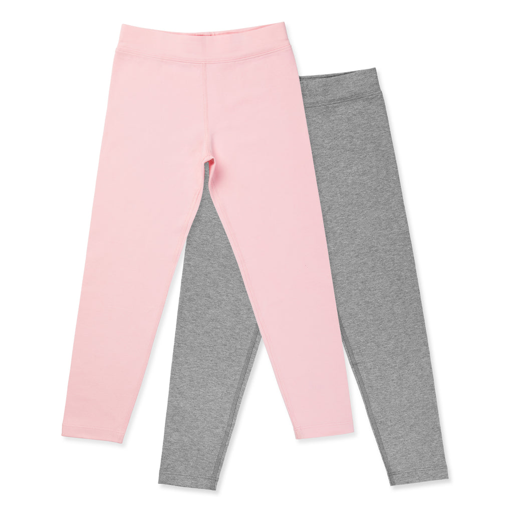 Organic Cotton Girls Leggings - Pink Pearl