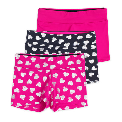 Layla Girls Dance Shorts (3-Pack)