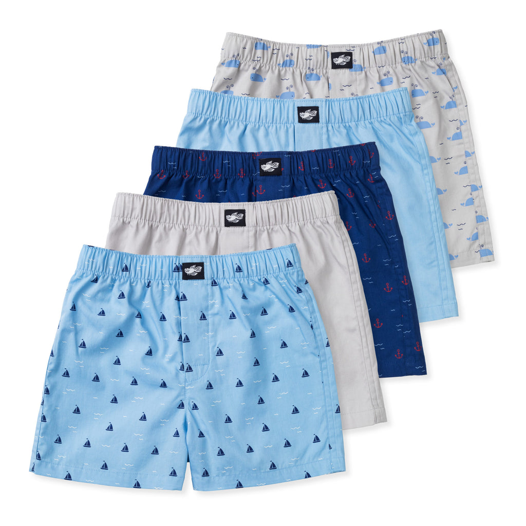 Ryan Woven Boxers (Nautical) - Lucky & Me
