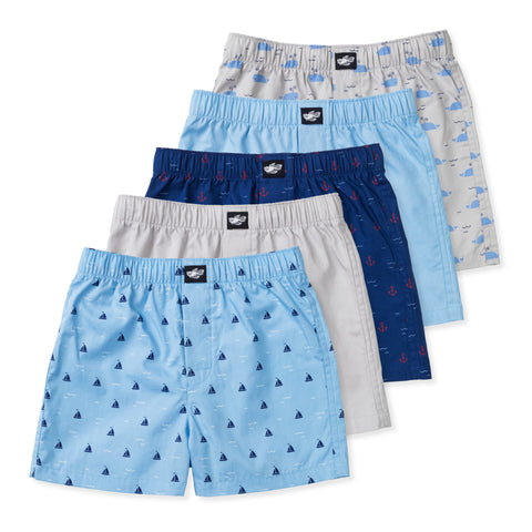 Ryan Boys Woven Boxers (5-Pack)
