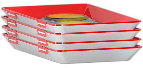 Clever Tray - Four Stackable Trays