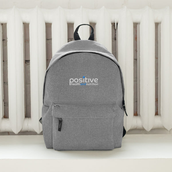 Positive Embroidered Backpack